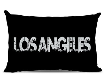 Los Angeles Pillow - LA Skyline Pillow - City Pillow - Urban Throw Pillow - L.A. Gift - City of Los Angeles