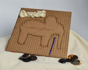 Elephant  Weaving Kit     by animaloom