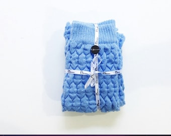 french blue cashmere wool PJsocks