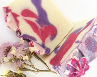 Black Raspberry & Vanilla- Soap- Handmade Soap- Soap Bar- Vegan Soap