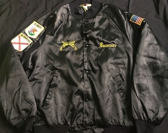 Vintage Westark Satin Jacket Military Police US Army Size L