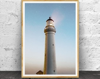 Lighthouse Wall Art, Lighthouse Print, Lighthouse Decor, Lighthouse Photo, Coastal Decor, Printable Wall Art, Instant Printable, Printable