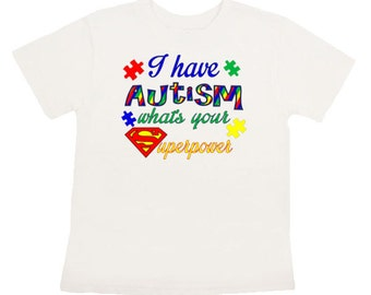 Autism Iron On transfer Personalized shirt DIY Digital Superpower printable shirt