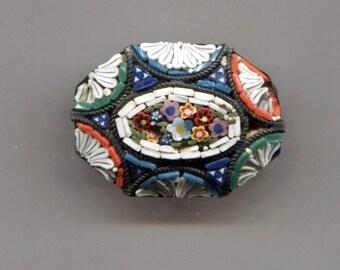 Mosaic Pin, Made in Italy