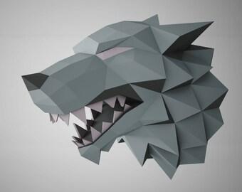 "DIY PAPER SCULPTURES  Exclusive - The Game of Thrones ""Stark"" Template"