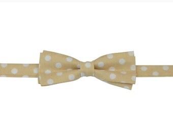 Beige dots boys bow ties, kid bow tie,  bow tie store, bow tie shop, slim bow tie