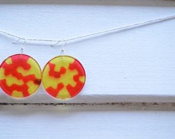 red light earrings