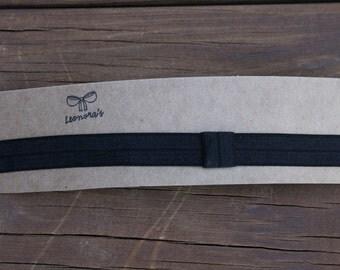 13 inch Black Elastic Headband