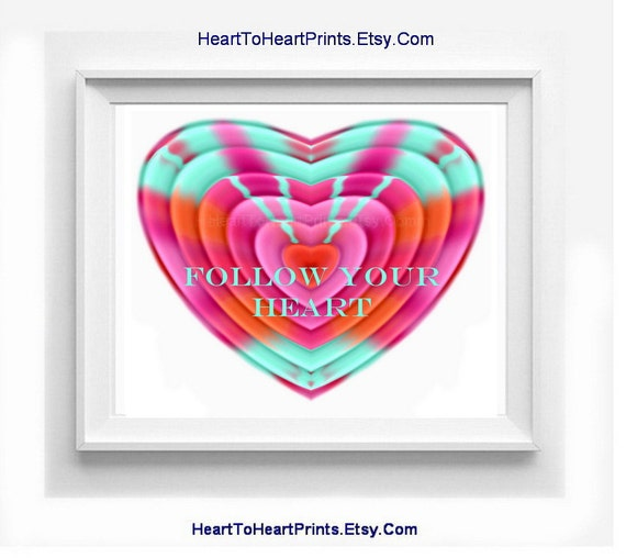 Wall Art Love Heart : Follow your heart wall decor love art by