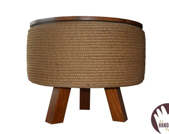 Table, planter, and storage.Demountable,Made of Walnut wood, storage space covered with High Quality artifical grass