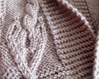 Knitted Brown Cardigan
