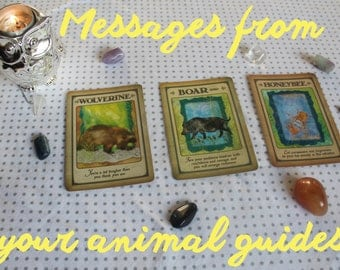 Messages From Your Animal Spirit Guides (3-5 Card Reading)