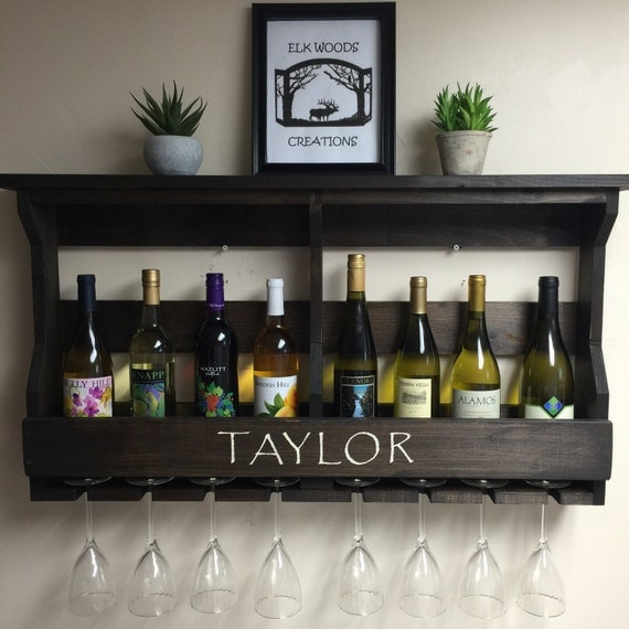 Wine rack personalized personalized gift by elkwoodscreations Best housewarming gifts for couples