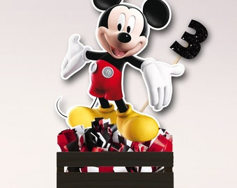 Mickey Mouse & Donald, Goofy, Pluto, Daisy, Minnie, Party Center Piece birthday decor