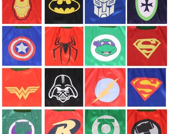 Set of 11,12-19 Capes, Superhero Capes Bulk, Super hero Party Favor, Capes Bulk, Birthday party favors, Super Hero Capes, Kids Capes