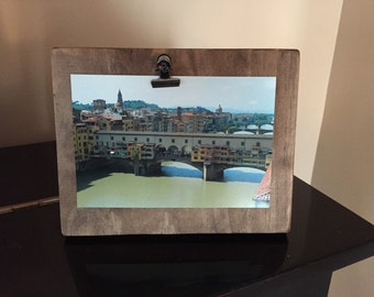 Rustic Wood Clip Gallery Style Picture Board 4x6