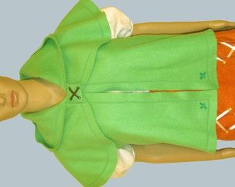 Linkle Hooded Capelet Vest, Fleece Adult Child, Cosplay, Legend of Zelda Hyrule Warriors