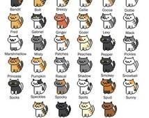 All 34 Neko Atsume Cross Stitch Patterns (Bundle!)