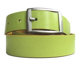 Leather belt in limone