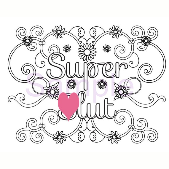 swearing coloring pages printable - swear super lut adult coloring page