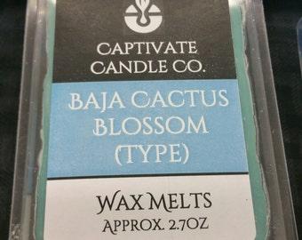 Baja Cactus Blossom Wax Melt / Tart / Aroma / Clamshell / Gift