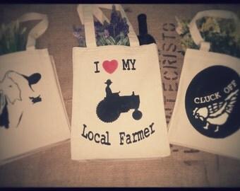 Farmer Love Reusable Tote Bags