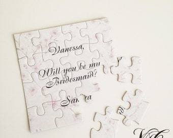 Personalized Bridesmaid proposal, Will You Be My Maid of Honor puzzle, Bridesmaid Invitation puzzle, Be my Bridesmaid card, Ask Bridesmaid