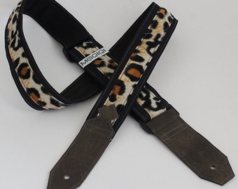 Guitarstrap leopard n jeans