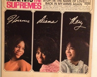 "The Supremes Vinyl Record-""More Hits By The Supremes"" 33 rpm records, 12 inch album, Diana Ross musi, Funk albums soul music , motown label."