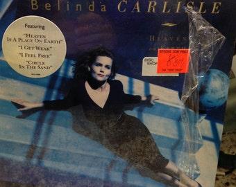 "SALE- Belinda Carlisle vintage vinyl record- ""Heaven On Earth"" 33 rpm 12"" vinyl album, ""Heaven Is A Place On Earth"" ""I Get Weak"" 80s pop"