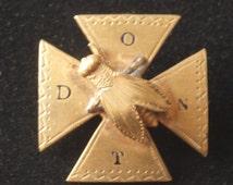 Victorian Don't Bee Cross Pin