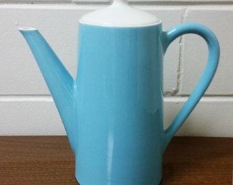 Royal China Blue Heaven Coffee Pot Server 60s Mid Century Modern Atomic Retro