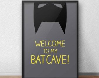 Batman print/nursery superhero poster