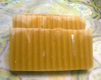 Lemon cream all natural soap