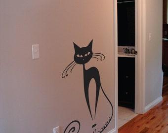 Wall Decor vinyl sticker decal - Welcome cat