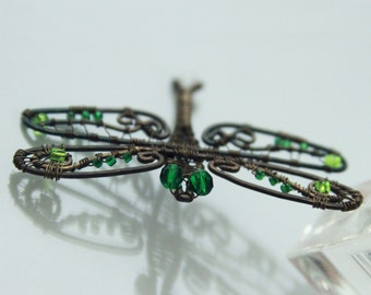 Pendant dragonfly, necklace dragonfly