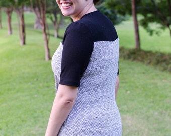 PDF Sewing Pattern Event Horizon Tee Split Front Top Petal Top Tunic Breastfeeding Friendly Shirt