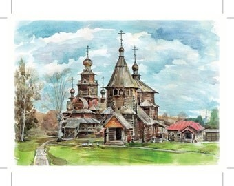 Travel Postcard from Russia Suzdal