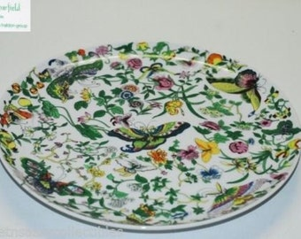 Meadowfield by Haldon 1978  RARE Dinner Plate Butterfly Floral