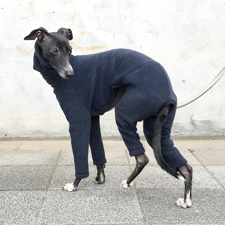 Italian Greyhound Clothing Fleece Jammies Jumpsuit Romper