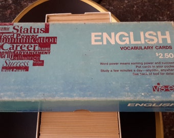 Great Vintage English Vocabulary Learning Cards