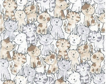 Kittens  - 1 yard Cut - Timeless Treasures Fabric - Cotton Fabric