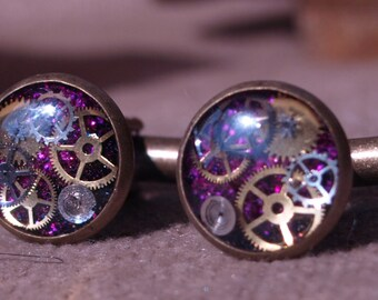 Timeless Purple Cufflinks