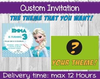 Custom Invitation | Parties and Parties
