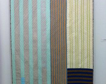 modern stripes quilt
