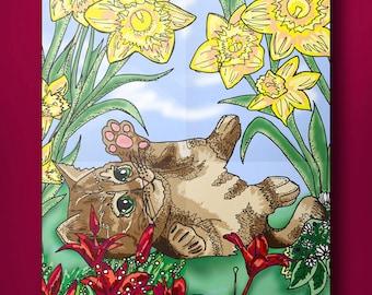 Kitty in spring
