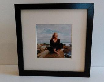 Meryl Streep custom framed and mounted portrait photo print 25cm x 25cm #1