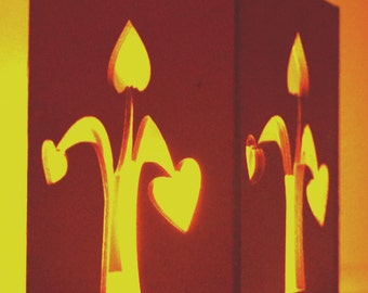 """Wooden candle holder """"Love tree"""""""