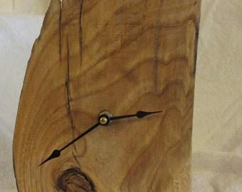 Natural wood, one of kind desk clock
