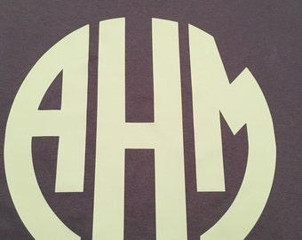 Large Circle Monogram T-Shirt